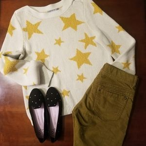 🌟 Marled Boatneck Star textured knit sweater 🌟